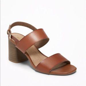 Old Navy Faux-Leather Slingback Block-Heel Sandal
